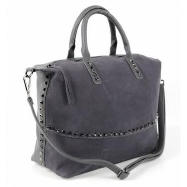 Женская кожаная сумка KASTA. Пепельный