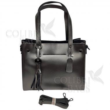 Женская кожаная сумка Kayra. Стальной