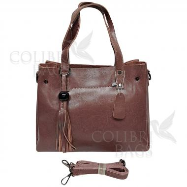 Женская кожаная сумка Kayra. Лиловый