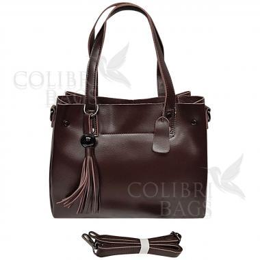 Женская кожаная сумка Kayra. Шоколад