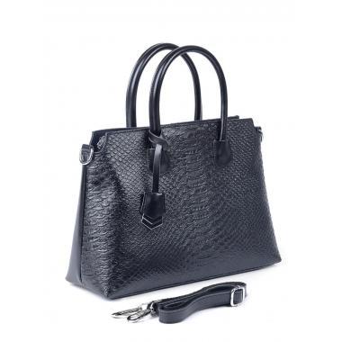 Женская кожаная сумка KENTIKO. Черный