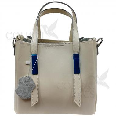 Кожаная сумка Kinto. Слоновая кость