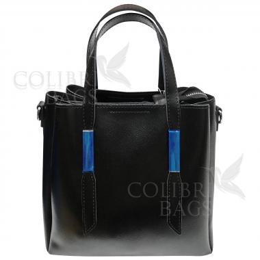 Кожаная сумка Kinto. Черный