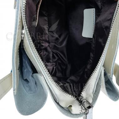 Кожаная сумка Kinto. Белый