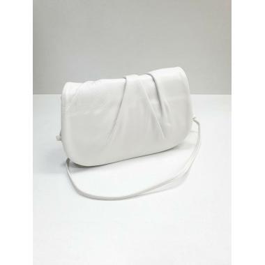 Женская кожаная сумка Kioto. Белый.