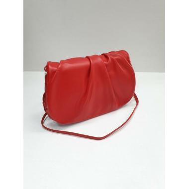 Женская кожаная сумка Kioto. Красный.