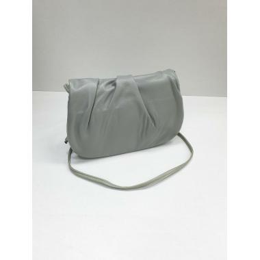 Женская кожаная сумка Kioto. Светло-серый..