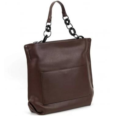 Женская кожаная сумка Klementa. Шоколад