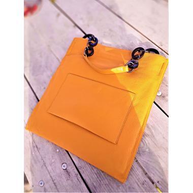 Женская кожаная сумка KLEMENTA ITALY. Манговый