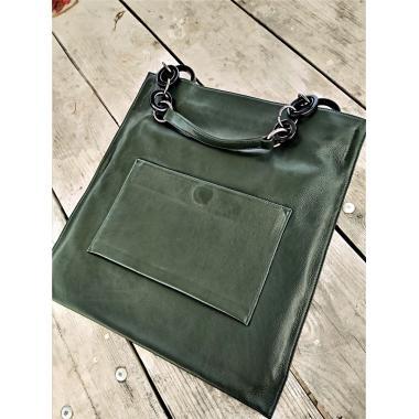 Женская кожаная сумка KLEMENTA ITALY. Болотный