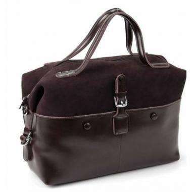 Женская кожаная сумка KOLLY. Шоколад