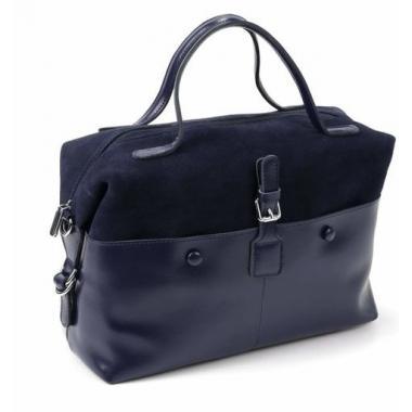 Женская кожаная сумка KOLLY. Темно-синий