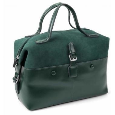 Женская кожаная сумка KOLLY. Темно-зеленый