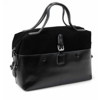 Женская кожаная сумка KOLLY. Черный