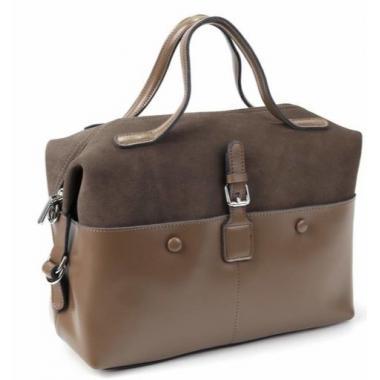 Женская кожаная сумка KOLLY. Песочный