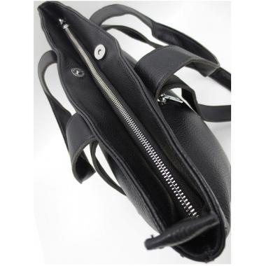 Женская кожаная сумка KROOT. Черный