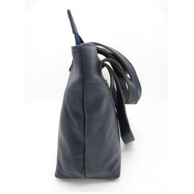 Женская кожаная сумка KROOT. Темно-синий