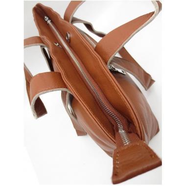 Женская кожаная сумка KROOT. Охра