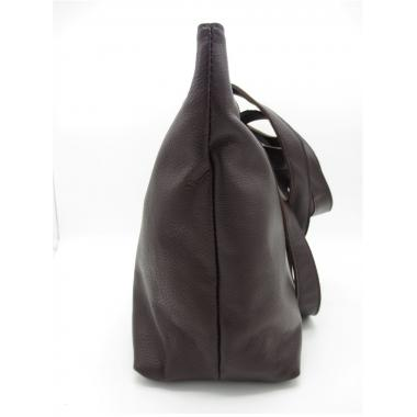 Женская кожаная сумка KROOT. Шоколад