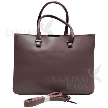 Женская кожаная сумка-планшет Kyzer. Лиловый