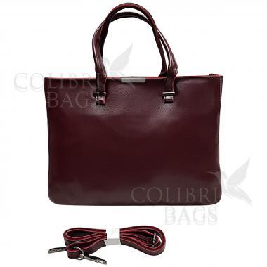 Женская кожаная сумка-планшет Kyzer. Ежевичный