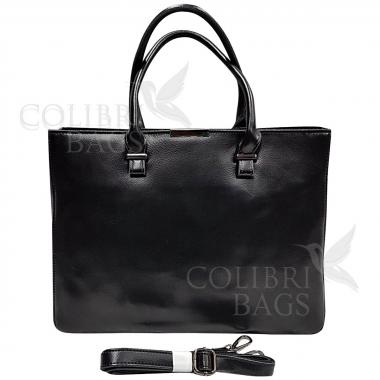 Женская кожаная сумка-планшет Kyzer.Черный