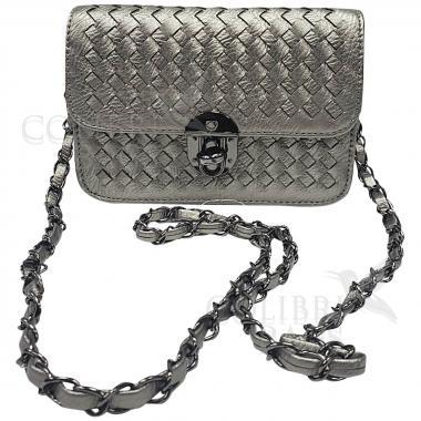 Женская сумка Lana Mini. Светлое серебро