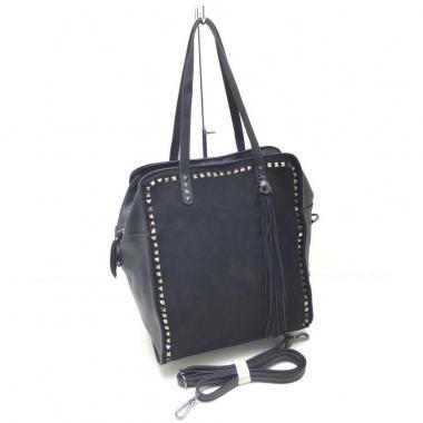 Женская кожаная сумка LEO. Черный