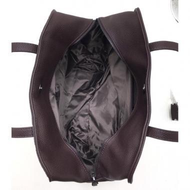Женская кожаная сумка LEO. Шоколад