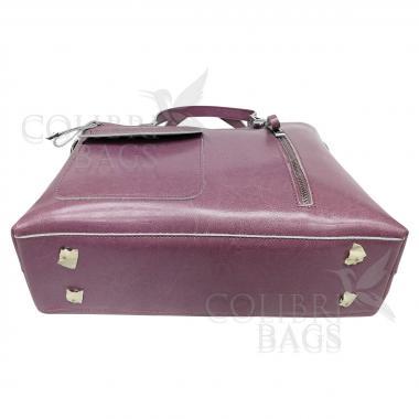 Женская кожаная сумка LION. Сиреневый