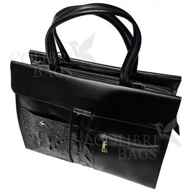 Женская кожаная сумка LIONELLA. Черный.
