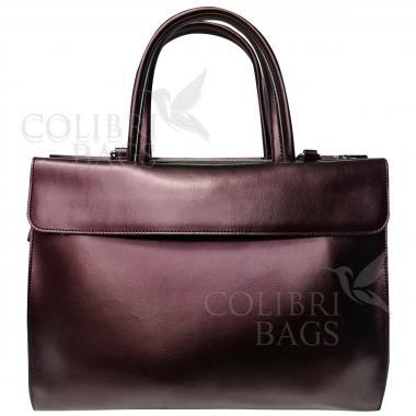 Женская кожаная сумка LIONELLA. Кофе жемчужный.