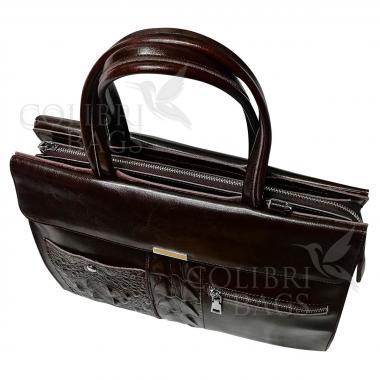 Женская кожаная сумка LIONELLA. Шоколад.