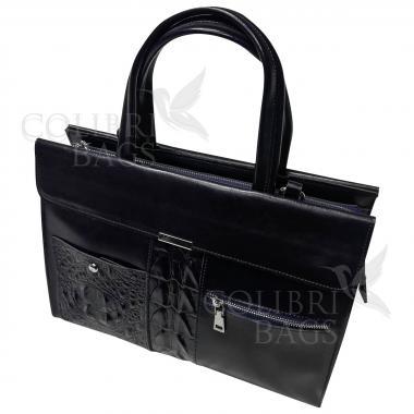 Женская кожаная сумка LIONELLA. Темно-синий.