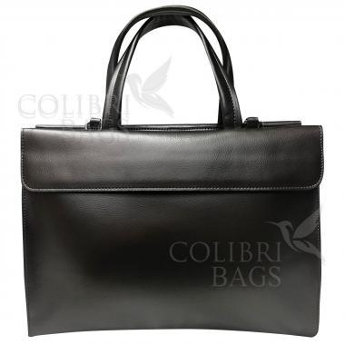 Женская кожаная сумка LIONELLA. Темное серебро.