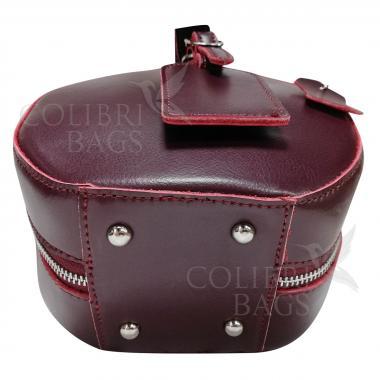 Женская кожаная сумка Lola. Ежевичный