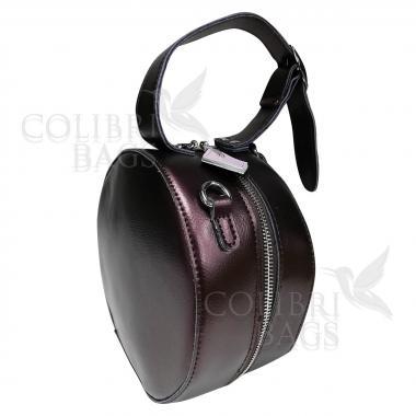 Женская кожаная сумка Lola. Кофе жемчужный