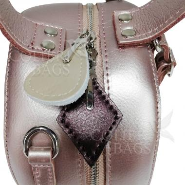 Женская кожаная сумка Lola. Жемчуг