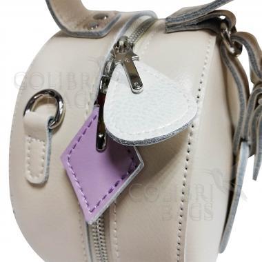 Женская кожаная сумка Lola. Слоновая кость