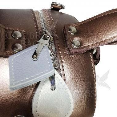Женская кожаная сумка Lola. Бронза