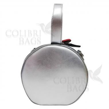 Женская кожаная сумка Lola. Светлое серебро