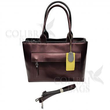 Женская кожаная сумка Losanna. Кофе жемчужный