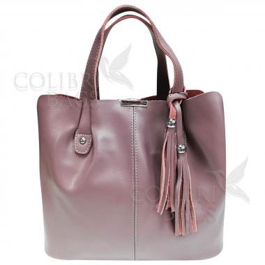 Женская кожаная сумка MADRID гладкий. Лиловый