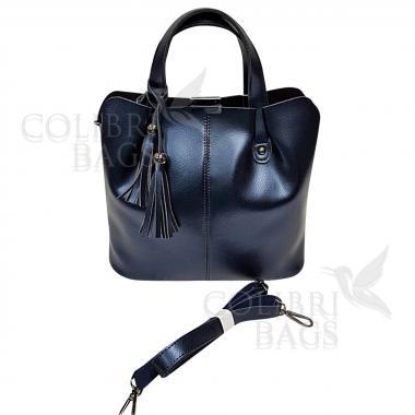 Женская кожаная сумка MADRID гладкий. Сапфир