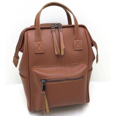 Кожаный рюкзак-трансформер MAMMIS.ОХРА.
