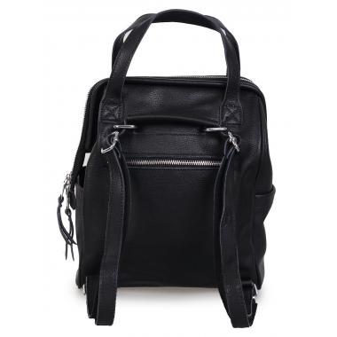 Кожаный рюкзак-трансформер MAMMIS. Черный