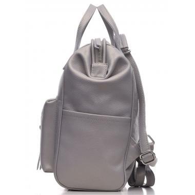 Кожаный рюкзак-трансформер MAMMIS. Пепельный