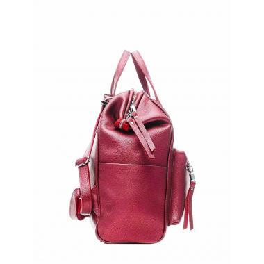 Кожаный рюкзак-трансформер MAMMIS. Винный металлик