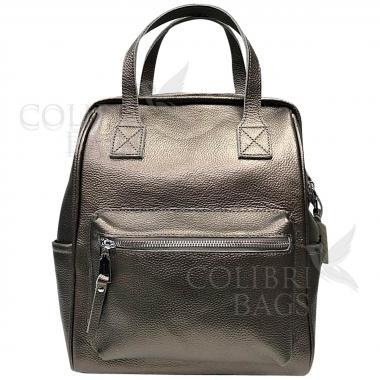 Кожаный рюкзак-трансформер MAMMIS. Бронза.