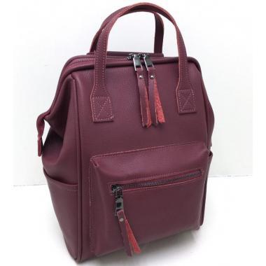 Кожаный рюкзак-трансформер MAMMIS.ЕЖЕВИЧНЫЙ.
